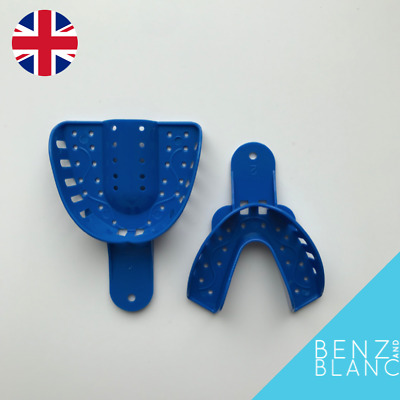 Dental Impression Trays Upper & Lower Size Large Teeth Clip Snap Veneers Braces