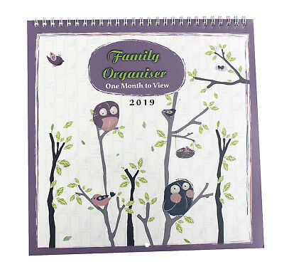 2019 family organiser/ calendar - one week to view for Home/Office-