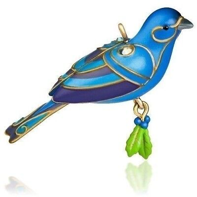 BLUE Bunting 2015 Hallmark Miniature BIRD Hallmark Ornament NEW in Box