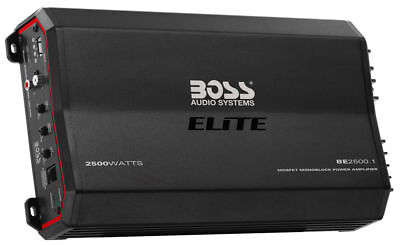 BOSS ELITE 2500W Monoblock Class-A/B Amplifier w/ Bass Knob Included | BE2500.1