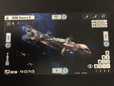 Star Wars Armada CR90 Corvette A Alternate Art Card