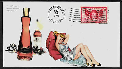 1950s Old Forester & Pin Up Girl Featured on Xmas Collector's Envelope A643
