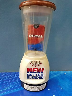 Vintage Doral Cigarettes Electrical Spinning Store Counter Display