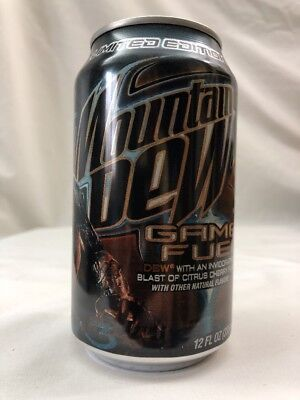 2008 Mountain Dew Game Fuel Halo 3 Limited Edition Half Empty Can No Holes