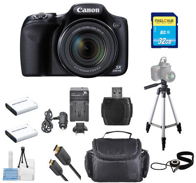 Canon PowerShot SX530 HS 16MP Digital Camera DELUXE BUNDLE with 32GB SD & Tripod