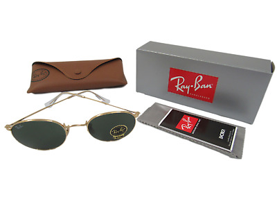 1e715f55db NEW RAY-BAN RB3447 Round Metal Gold Frame   Blue Lens 50MM -  57.50 ...