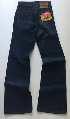 Levis 684 BIG BELLS Vintage DEADSTOCK Raw Denim 1970's Flares NWT W26 L34