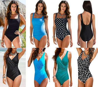 Plus Size Women One Piece Monokini Push Up Bikini Swimwear Swimsuit Bathing Suit
