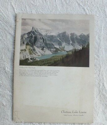 1954 Chateau Lake Louise Alberta Canada Menu