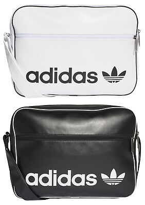 ae53a7479d ADIDAS ORIGINALS AIRLINER Vintage Black White Shoulder Bag Bag ...