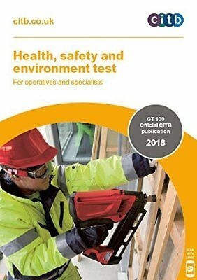 Health Safety Environment Tests Operatives Specialists 2018 GT100 Citb Book