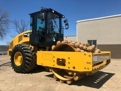 2013 Caterpillar CP54B Vibratory Padfoot Compactor Cab AC Diesel Cat Drum Roller