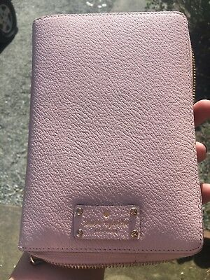 New 2018 Kate Spade Light Pink Zip Around Agenda Organizer  Planner Wallet
