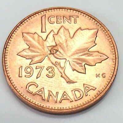 1973 Canada 1 One Cent Copper Penny Canadian Circulated Coin F329