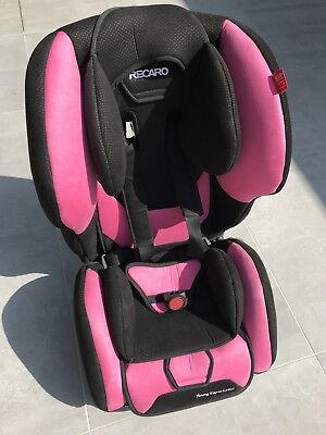 Recaro Young Expert Plus Car Seat In Pink With Isofix Base