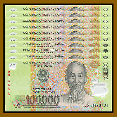 Vietnam Vietnamese (100 Thousand) 100000 Dong x 10 Pcs (1 Million), 2012-17 Unc