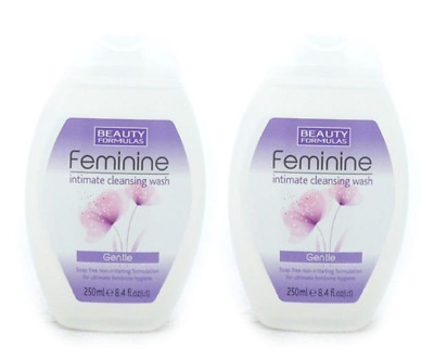 2x Beauty Formulas Feminine Care Intimate Hygiene Gentle Cleansing Wash - 250ml
