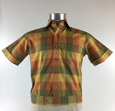 Vintage De Leon & Sons 60's Surf Cabana Lounge Beach Swim Shirt Size Small
