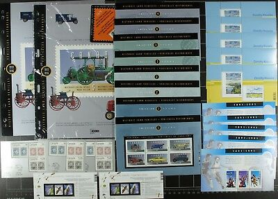 Weeda Canada VF mint NH Lot of Souvenir Sheets FV $100.01 Face Value up to $1.25