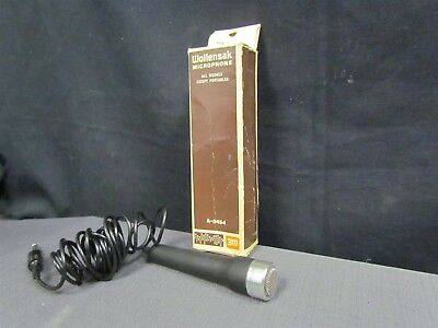 Vintage Wollensak 3m Microphone A-0454 w/ Stand and Original Box Corded