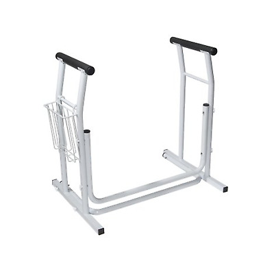 Toilet Stand Alone Safety Rail Frame, Bathroom Toilets Stands Handicap Aid Bar