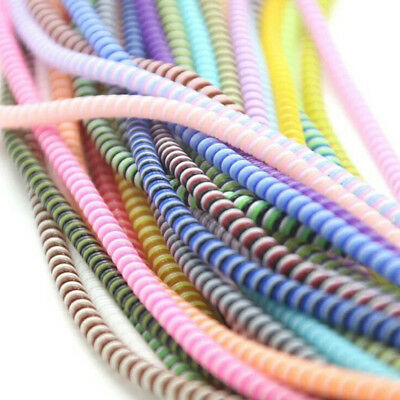 1.4M Spiral Phone USB Data Charging Cable Wire Cord Wrap Protector DIY Winder 3W
