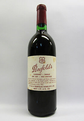 Penfolds Bin 389 Cabernet Shiraz 1961 Red Wine Clinic