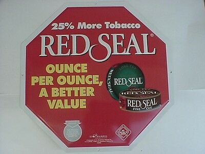 Red Seal US Smokeless Tobacco (maker of Copenhagen) 2004 Advertising Tin Sign