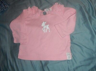 Minifin Pink Long Sleeve Baby T-Shirt Size 0