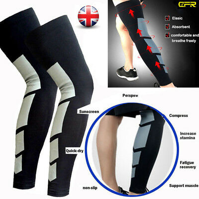 Calf Leg Support Varicose Veins Knee Compression Sleeve Socks Stocking Men Women