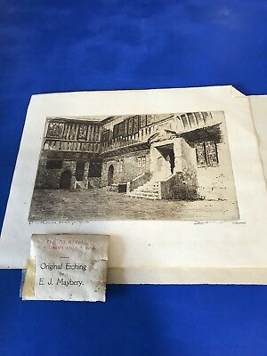 Original Etching E.J.Maybery Signed