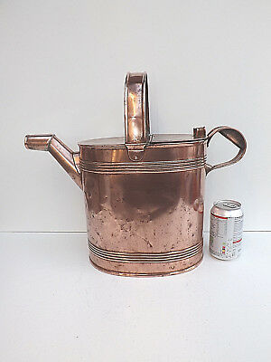 Antique Very Large Copper Maids Hot Water Can 14 Pints