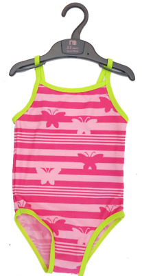Baby Girls New Mothercare Pink Butterfly Swimming Costume Swimsuit Age 18-24 Mth