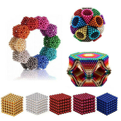 216 3/5mm Magnetic Magnet Neodymium Cube Balls Beads Sphere DIY Stress Relief