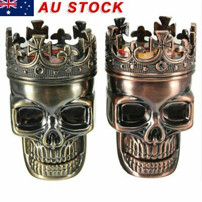 Creative King Skull Shape Metal Tobacco Grinder Herb Spice Muller Crusher Bronze