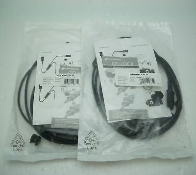 2 Plantronics Headset QD Plug with Mute for Amplifiers and H HW Series 27019-03