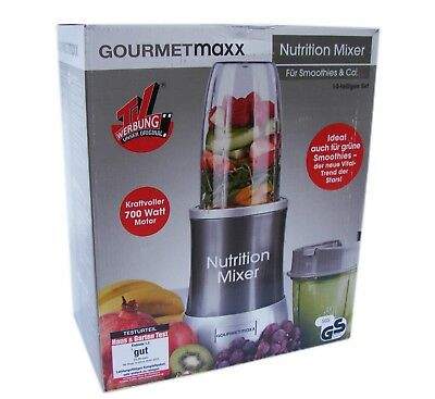 Gourmetmaxx Mixer Set Smoothiemaker 10 tlg Standmixer Smoothie Maker Nutrition
