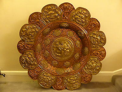 Attractive Antique Copper Plate Very Large