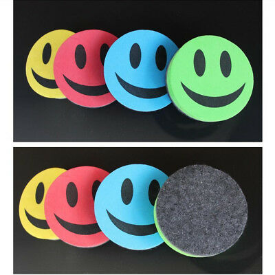 Smile Face Whiteboard Magnetic Dry-Wipe Marker Cleaner Eraser School Office HU