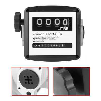 "1% High Accuracy 1"" 4 Digital Diesel Gas Fuel Oil Flow Meter Counter Gauge"