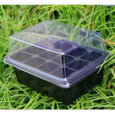 12 Holes Plant Seeds Grow Box Tray Insert Propagation Seeding Case Planter HU