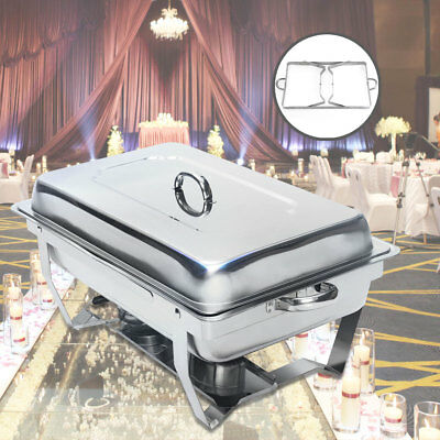New Chafing Dish 9 Quart Stainless Steel Full Size Tray Buffet Catering