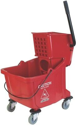 Wringer Mop Bucket Cart Heavy Duty Trolley Wheels TubFloor Cleaner BPA Free