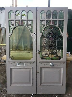 Stained Glass Victorian Edwardian Front Doors Reclaimed Antique