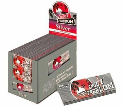 5000 CARTINE ENJOY Argento FREEDOM SILVER CORTE - 1 BOX 100 LIBRETTI Regular