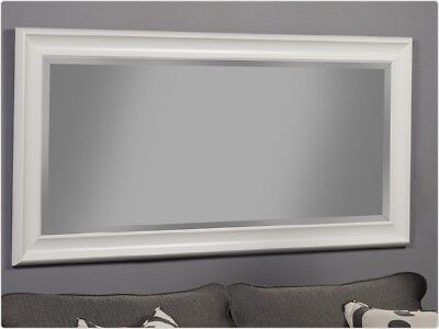 White Full Length Mirror Leaner Wall Mounted Floor Standing For Entryway Bedroom