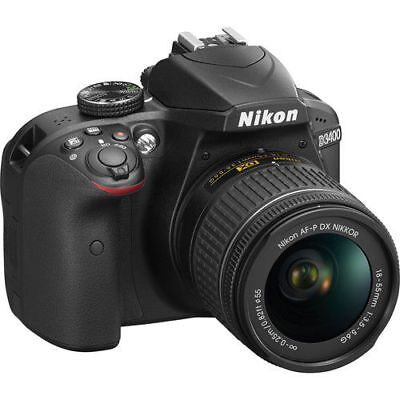NEW Nikon D3400 24.2 MP Digital SLR Camera and AF-P 18-55mm f/3.5-5.6G VR Lens
