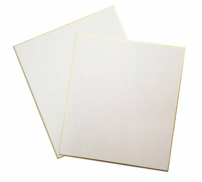 """Japan Art Shikishi Board Set of two 9.5 x 10.75"""" Gold Bordered for Japanese Art"""