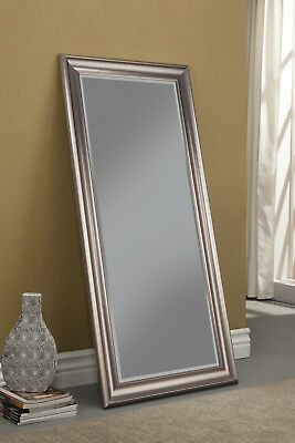 Full Length Mirror Silver Frame Leaning Floor Wall Mounted Hallway Living  Room