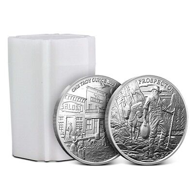 Roll/Tube of 20 - Provident Metals 1 Troy Oz .999 Fine Prospector Silver Rounds